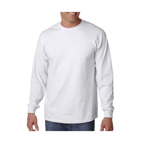 G2400 Gildan Adult Ultra CottonTM Long-Sleeve T-Shirt  - G2400-White
