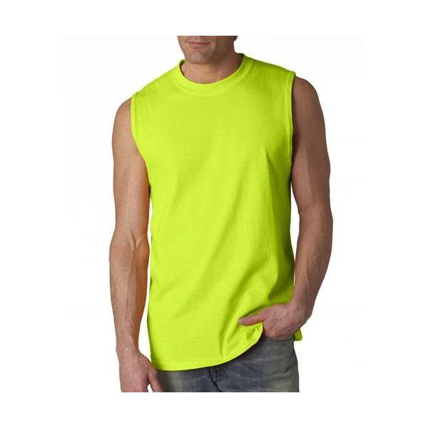 G2700 Gildan Adult Ultra CottonTM Sleeveless T-Shirt  - G2700-Safety Green (50/50)