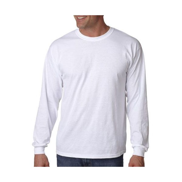 G5400 Gildan Adult Heavy Cotton Long-Sleeve T-Shirt  - G5400-White