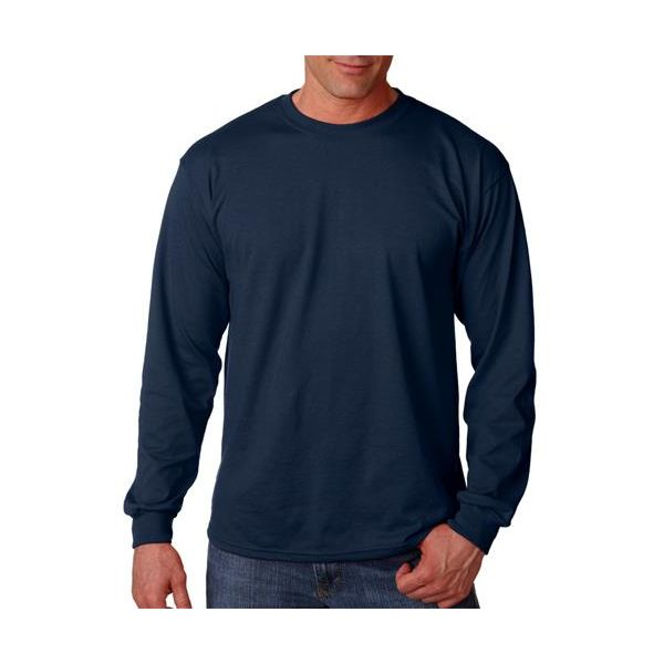 G8400 Gildan Adult Gildan 50/50 DryBlendTM Long-Sleeve T-Shirt  - G8400-Navy