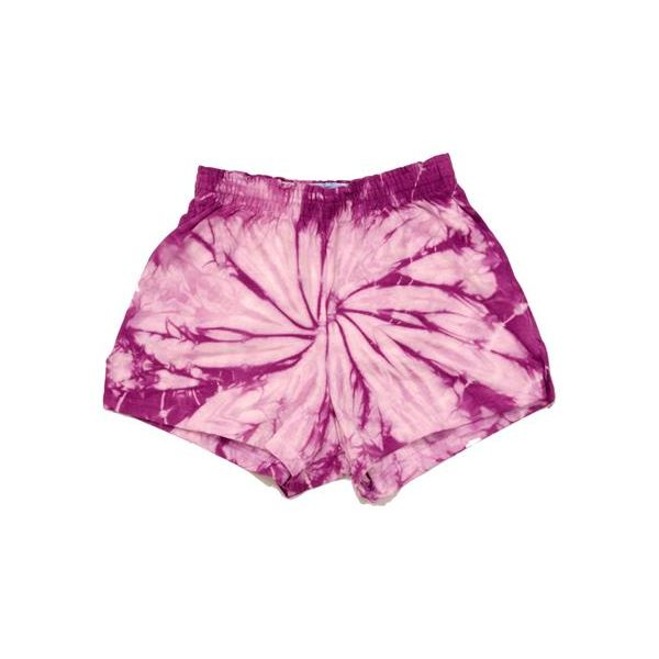 H4000b tie-dyes 100% Cotton Youth Shorts  - H4000B-Lavender Spider