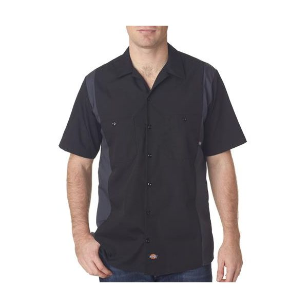 LS524 Dickies Adult Industrial Color Block Shirt