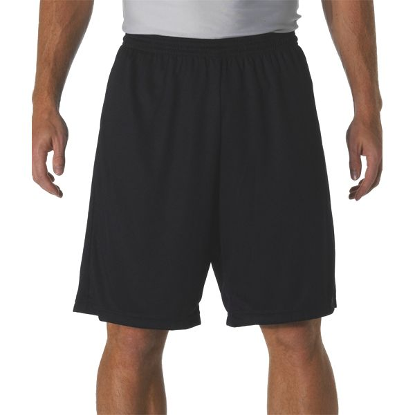 """N5281 A4 Adult 9"""" Cooling Performance Power Mesh Practice Short"""