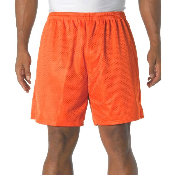 """N5293 A4 Adult 7"""" Lined Tricot Mesh Shorts"""
