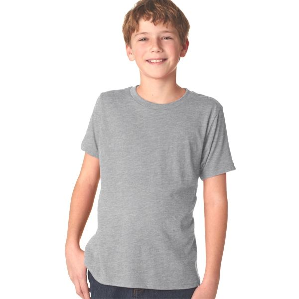 N6310 Next Level Boy's Tri-Blend Crew Shirt  - N6310-Premium Heather