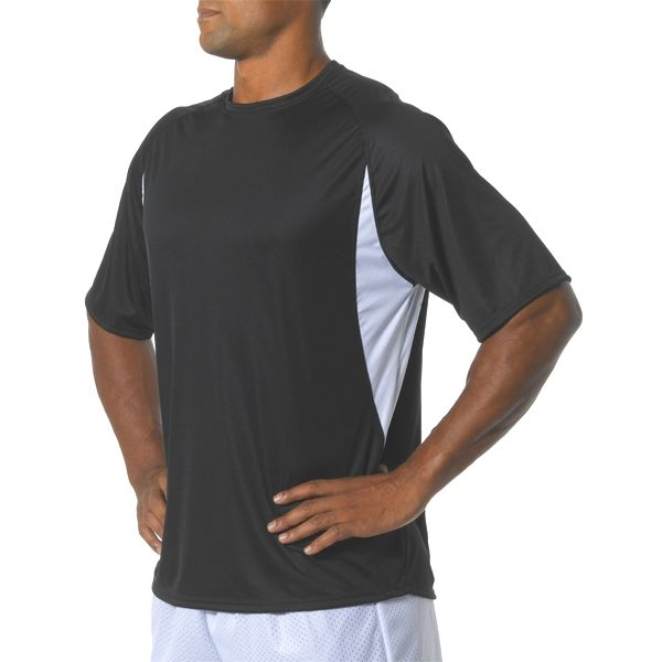 NB3181 A4 Youth Cooling Performance Color Block Short Sleeve Crew