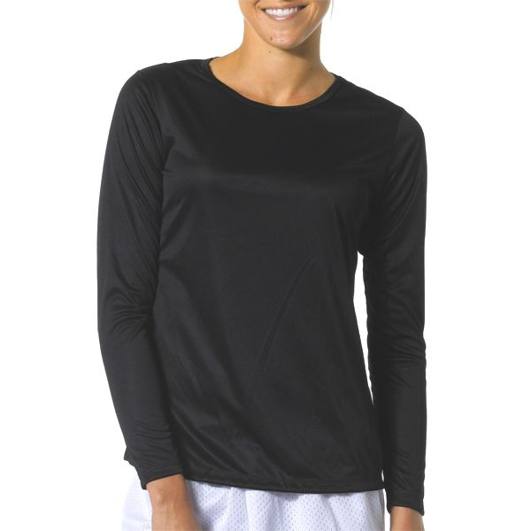 NW3002 A4 Women's Long Sleeve Cooling Performance Crew
