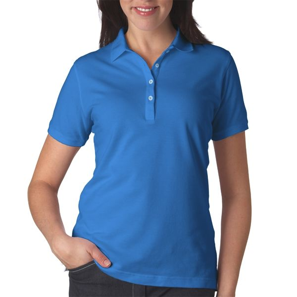 OB12 Outer Banks Ladies' Ultimate Outer Banks® Cotton Polo  - OB12-Bimini Blue