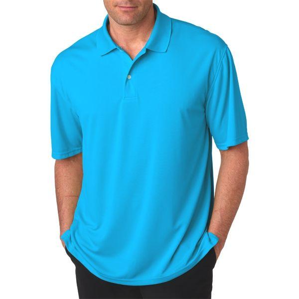 OB20 Outer Banks Men's Cool DRI® Textured Performance Polo  - OB20-Aquatic Blue
