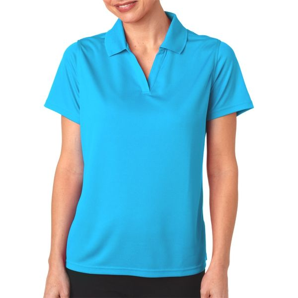 OB21 Outer Banks Ladies' Cool DRI® Textured Performance Polo  - OB21-Aquatic Blue