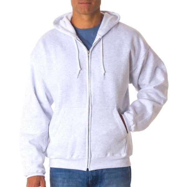 P180 Hanes Adult ComfortBlend® EcoSmart® Full-Zip Hood  - P180-Ash (50/50)