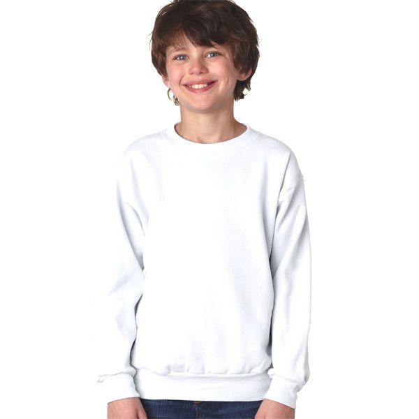 P360 Hanes Youth ComfortBlend® EcoSmart® Crewneck  - P360-White