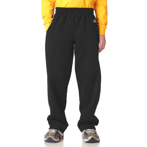 P890 Champion Youth 50/50 Open-Bottom Sweatpants  - P890-Black