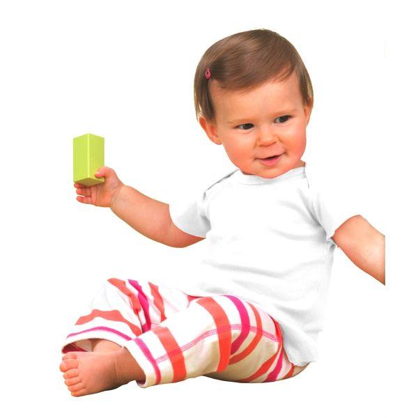 R3400 Rabbit Skins Infant Lap Shoulder Cotton T-Shirt  - R3400-White