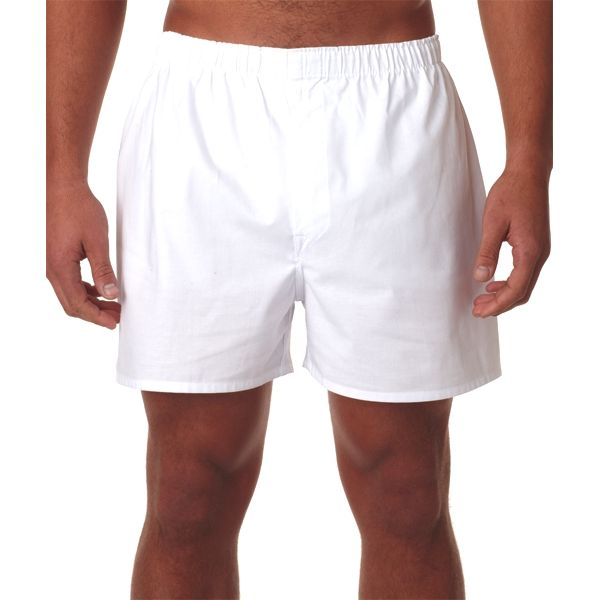 R983 Robinson Adult Cotton Boxer Shorts  - R983-White