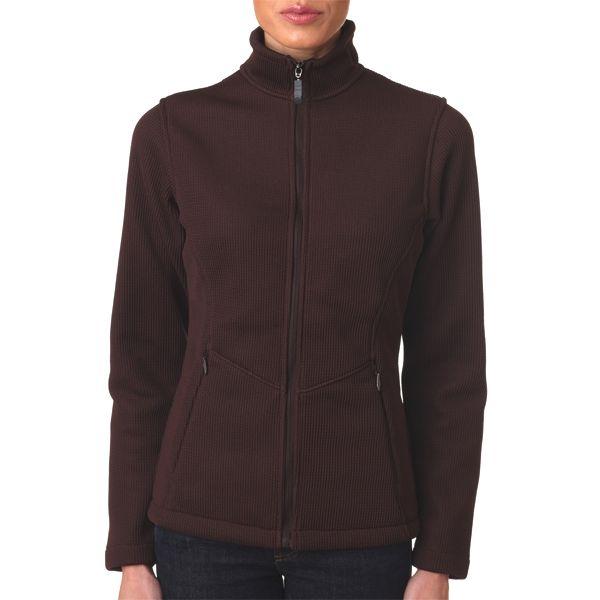 S3415 Storm Creek Ladies' IronWeave Full Zip Fleece  - S3415-Chocolate