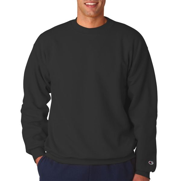 S600 Champion Adult 50/50 Crewneck Sweatshirt  - S600-Black