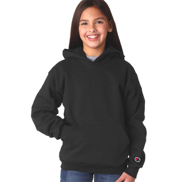 S790 Champion Youth 50/50 Pullover Hooded Sweatshirt  - S790-Black