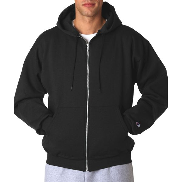 S800 Champion Adult 50/50 Full-Zip Hooded Sweatshirt  - S800-Black