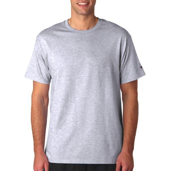 T425 Champion Adult Cotton Tagless T-Shirt  - T425-Ash (99/1)