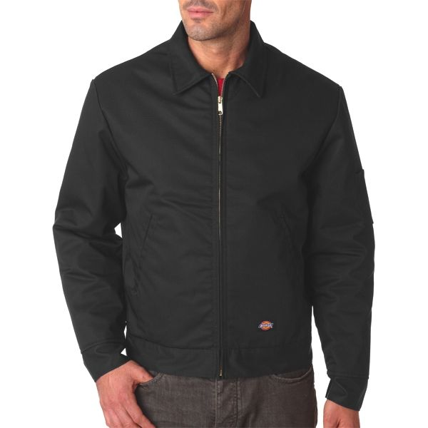 TJ15 Dickies Adult Lined Eisenhower Blend Jacket  - TJ15-Black