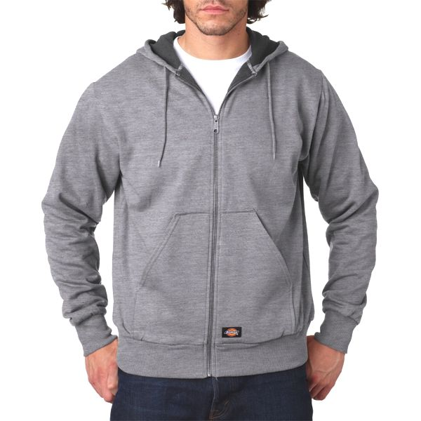 TW382 Dickies Adult Thermal-Lined Hooded Fleece Jacket  - TW382-Ash Grey