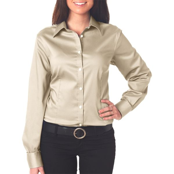 V0219 Van Heusen Ladies Solid Sateen Woven