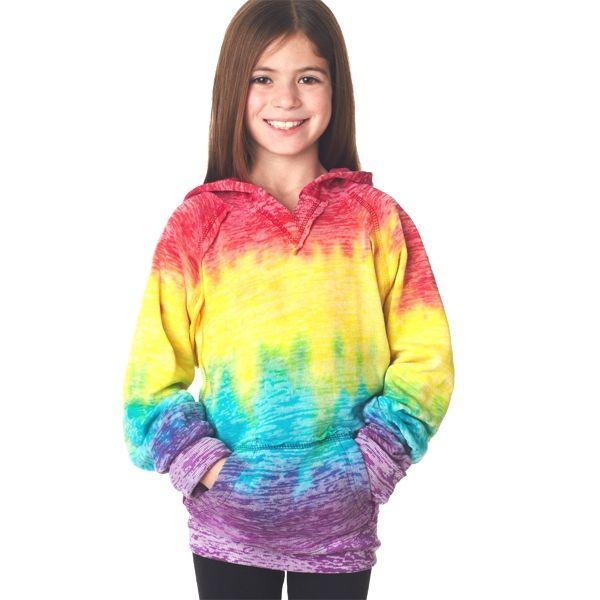 W1162Y Weatherproof Youth Girl's Courtney Burnout V-Notch Sweatshirt