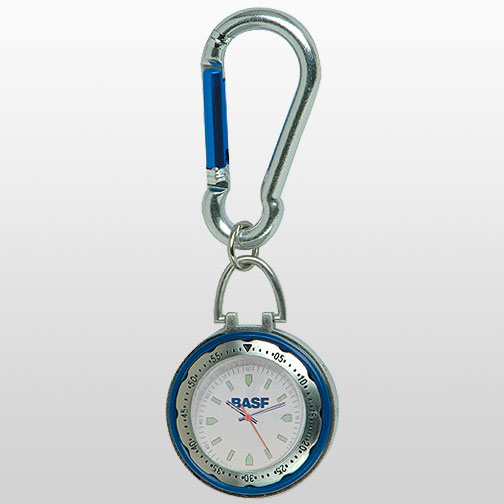 Blue Carabiner Clip Watch