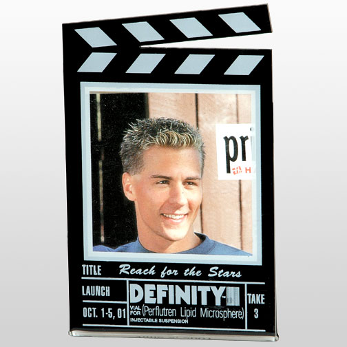 """3"""" x 3"""" Clapboard Shaped Magnetic Picture Frame"""