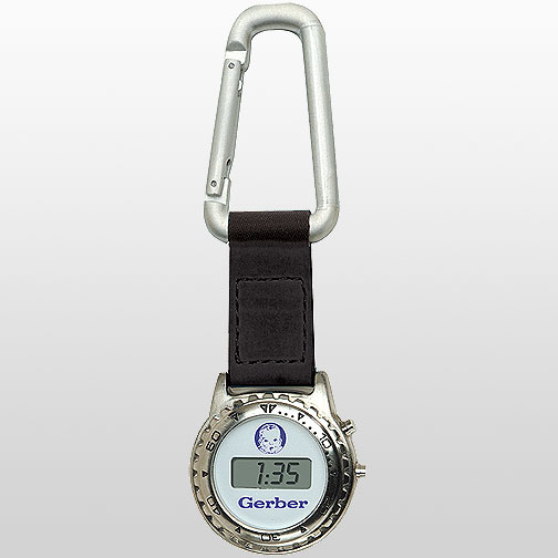 Silver Clip Watch