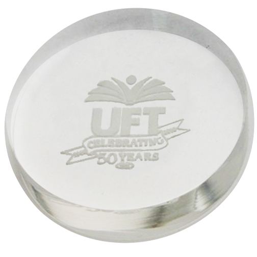 Disc Acrylic Paperweight