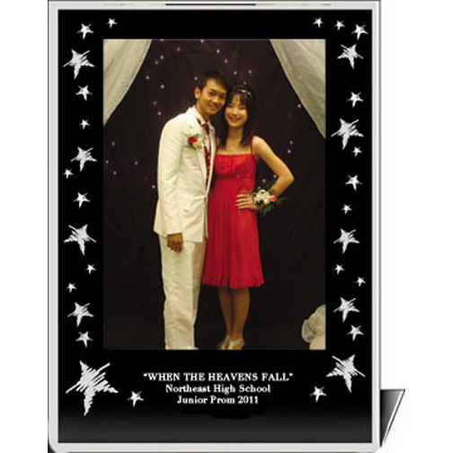 """Star Themed Acrylic Easel Picture Frame - Available in 3.5""""x5"""", 4""""x6"""", and 5""""x7"""" Photo Sizes"""