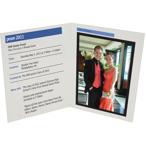 """Acrylic Book Frame with Facebook Theme - Available in 3.5""""x5"""", 4""""x6"""", and 5""""x7"""" Photo Sizes"""