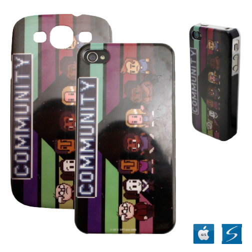 Hard plastic case with glossy finish 4 color imprint
