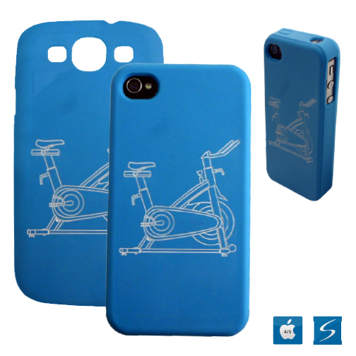 Silcone phone case with debossed and color filled logos