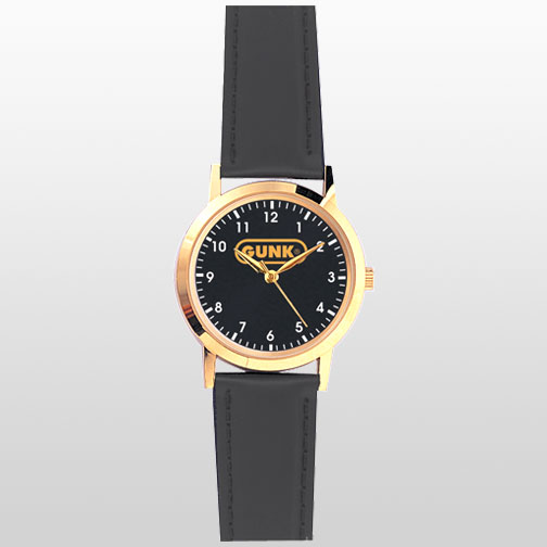 Gold Case with Black Padded Leather Band