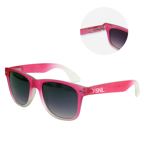 Frosted sunglasses with rubbr finish