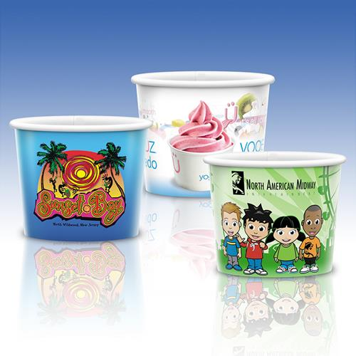 8 oz Cold Paper Visstun Container - Cold Paper Visstun Cups