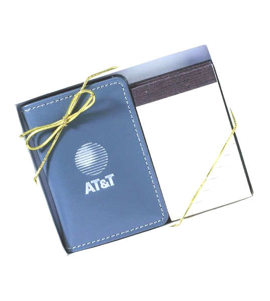 Stitched Pocket Pocket Note Pad Gift Set - Made in USA Union Bug Available