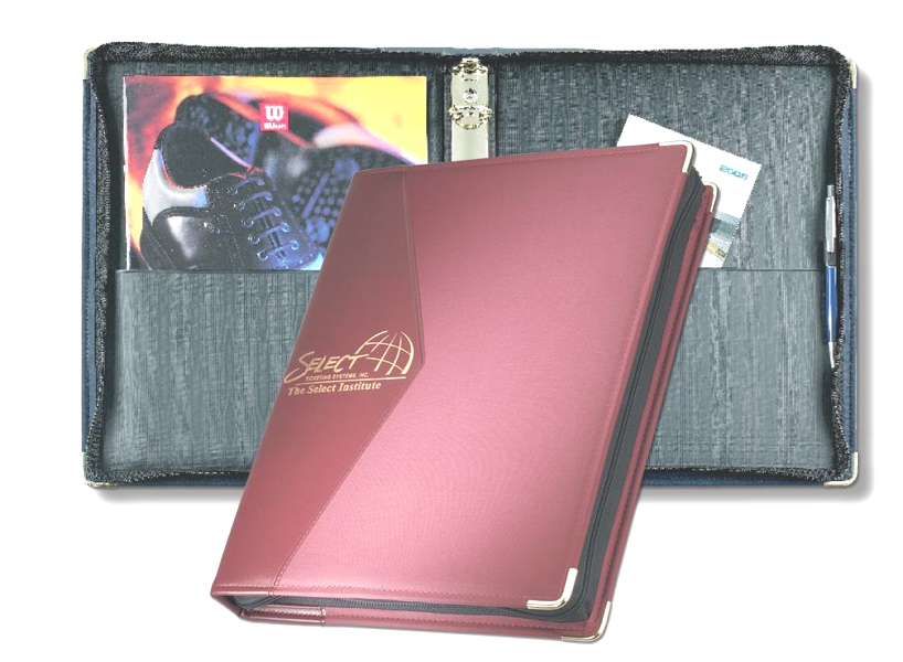 "Microline 1"" Zipper Ring Binder - Made in USA Union Bug Available"