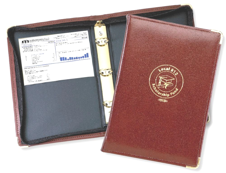 "Elite  1"" Junior Zipper  Binder - Made in USA Union Bug Available"