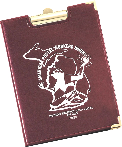 Stitched Clipboard - Made in USA Union Bug Available