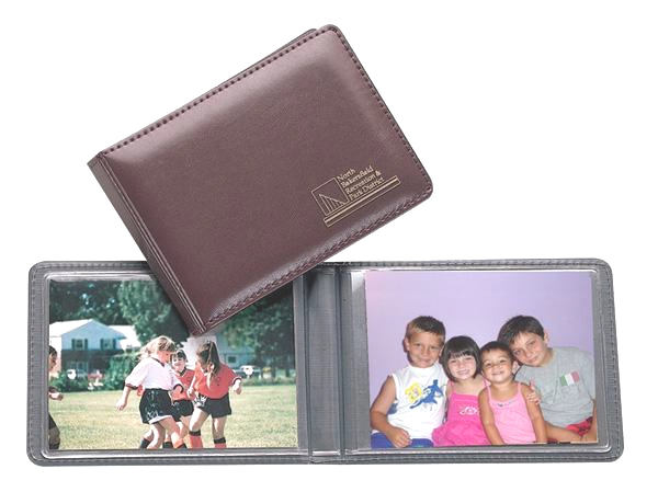 Lethredge® Moiré Photo Album - Made in USA Union Bug Available