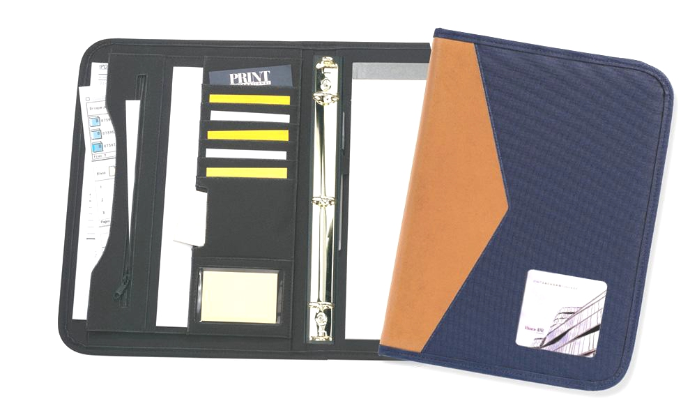 "Soho 2-Tone 1"" Ring Binder - Made in USA Union Bug Available"