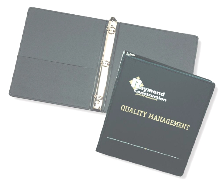"Premium 1 1/2"" Ring Binder - Made in USA Union Bug Available"