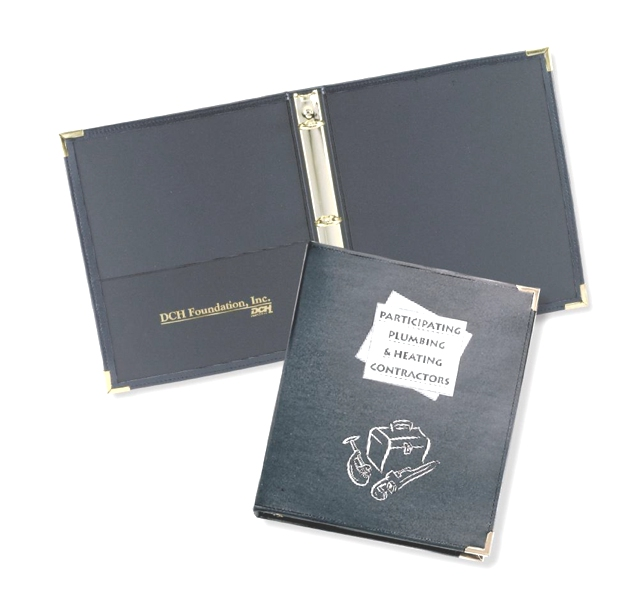 "Stitched 1 1/2"" Ring Binder - Made in USA Union Bug Available"