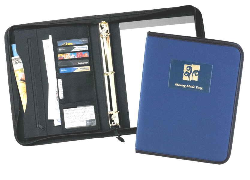 "Soho 1"" Zipper Ring Binder - Made in USA Union Bug Available"