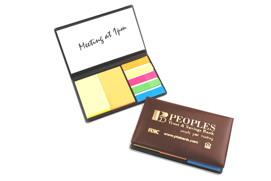 Deluxe Adhesive Notes Holder - Made in USA Union Bug Available