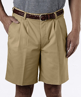 "MEN'S PLEATED SHORT 9"" INSEAM - MEN'S PLEATED SHORT 9"" INSEAM"